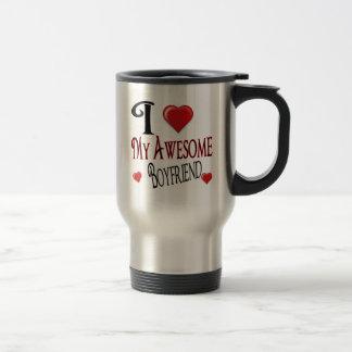 I Love My Boyfriend Popular Holiday Gift Travel Mug