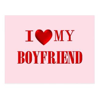 I Love my Boyfriend Postcard