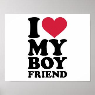 I love my boyfriend poster