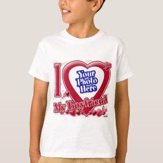 I Love My Boyfriend red heart - photo T-Shirt