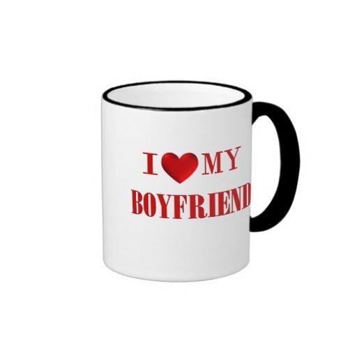 I Love my Boyfriend Ringer Mug