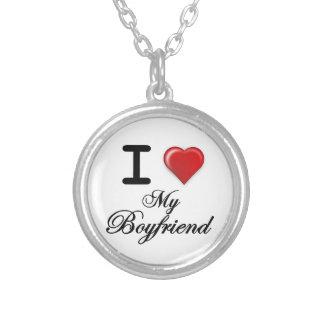 I Love My Boyfriend Round Pendant Necklace