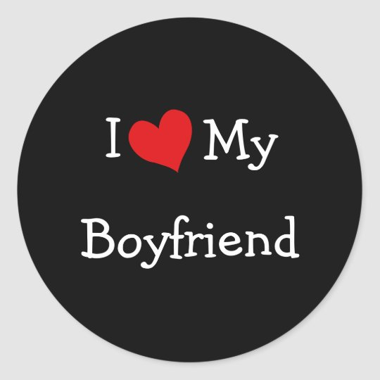 I Love My Boyfriend Stickers
