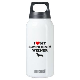 I Love My Boyfriends Wiener Insulated Water Bottle