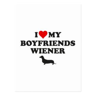 I Love My Boyfriends Wiener Postcard