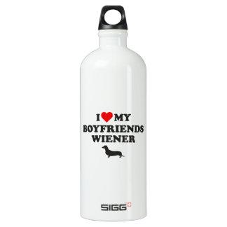 I Love My Boyfriends Wiener Water Bottle