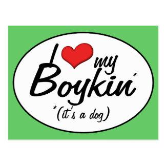I Love My Boykin (It's a Dog) Postcard