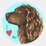 I Love my Boykin Spaniel Classic Round Sticker
