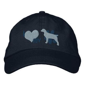 I Love my Boykin Spaniel Embroidered Hat (Blue)