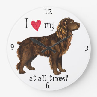 I Love my Boykin Spaniel Large Clock