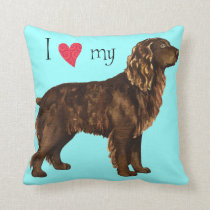 I Love my Boykin Spaniel Throw Pillow