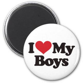 I Love My Boys 2 Inch Round Magnet