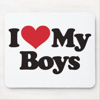 I Love My Boys Mouse Mats