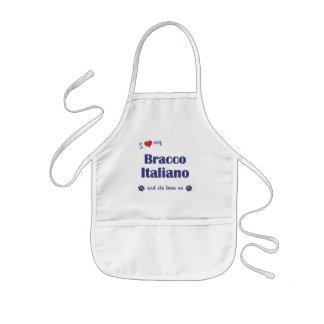 I Love My Bracco Italiano (Female Dog) Kids' Apron