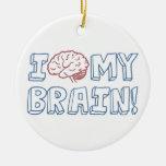 I Love My Brain Christmas Ornaments