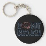 I Love My Brain Keychain