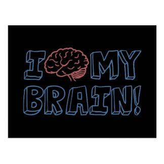 I Love My Brain Postcard