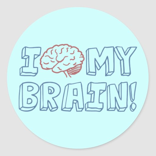 I Love My Brain Sticker