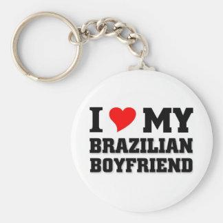 I love my Brazilian Boyfriend Basic Round Button Keychain