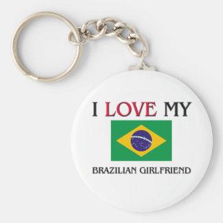 I Love My Brazilian Girlfriend Basic Round Button Keychain