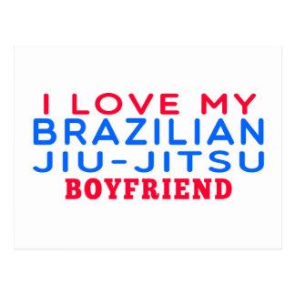 I Love My Brazilian Jiu-Jitsu Boyfriend Post Card