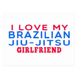 I Love My Brazilian Jiu-Jitsu Girlfriend Post Cards