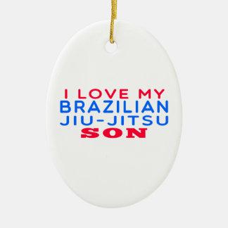 I Love My Brazilian Jiu-Jitsu Son Ceramic Ornament