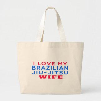 I Love My Brazilian Jiu-Jitsu Wife Tote Bags
