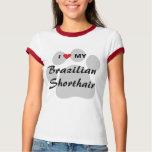 I Love My Brazilian Shorthair Pawprint T-Shirt