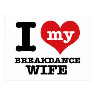 I love my breakdance  Boyfriend Postcard