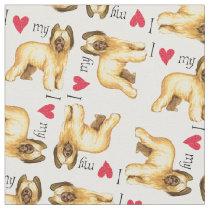 I Love my Briard Fabric
