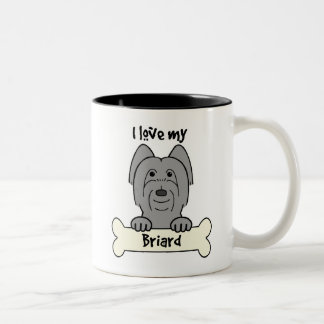 I Love My Briard Two-Tone Coffee Mug
