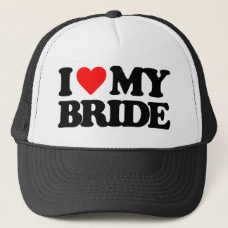 I LOVE MY BRIDE TRUCKER HAT