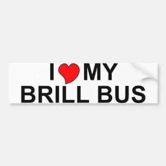 I Love My Brill Bus Bumper Stickers