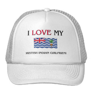 I Love My Bristish Indian Girlfriend Mesh Hats