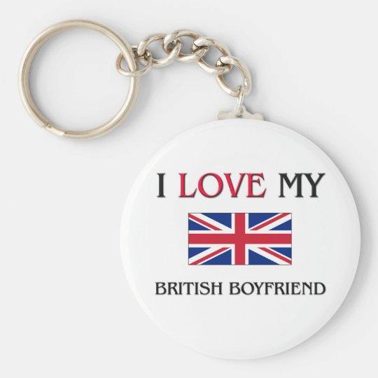 I Love My British Boyfriend Keychain