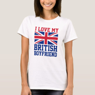 I Love My British Boyfriend UK Flag Ladies T-Shirt