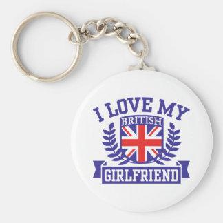 I Love My British Girlfriend Key Chains