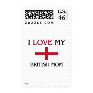 I Love My British Mom Stamps