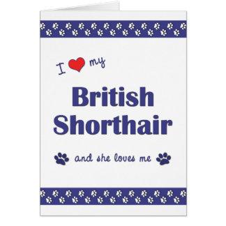 I Love My British Shorthair (Female Cat) Greeting Cards