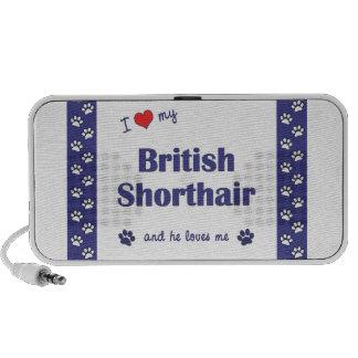 I Love My British Shorthair (Male Cat) iPod Speakers