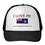 I Love My British Virgin Islander Mom Mesh Hat