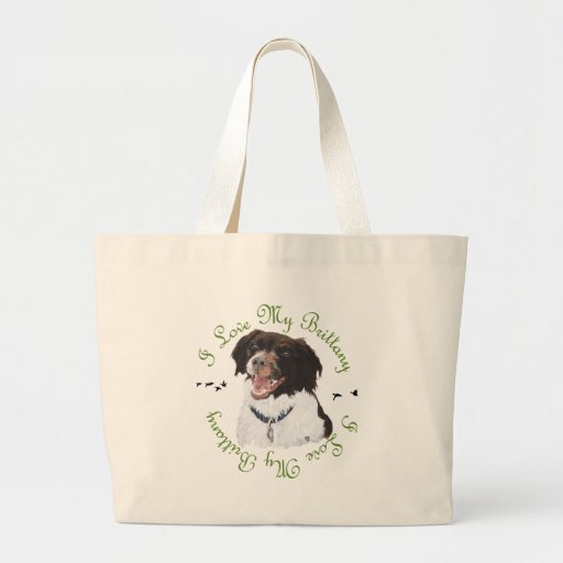 I Love My Brittany Canvas Bag