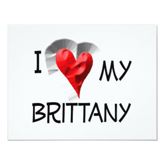 I Love My Brittany Card