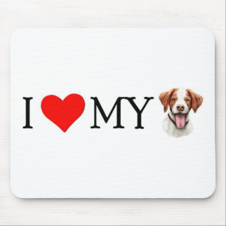I Love My Brittany Mouse Pad
