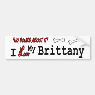I Love My Brittany Spaniel Bumper Sticker