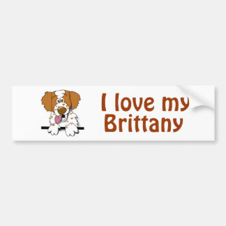 I Love My Brittany Spaniel Dog Lover Template Bumper Sticker
