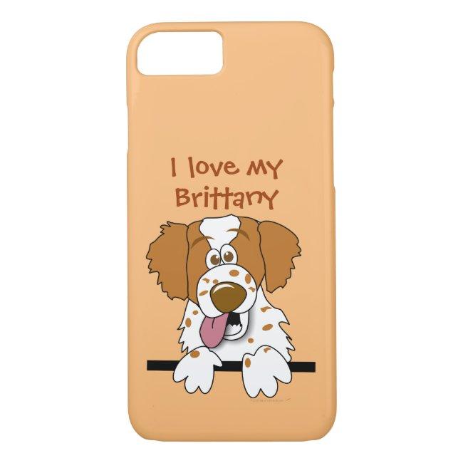 I Love My Brittany Spaniel Dog Lovers Phone Case