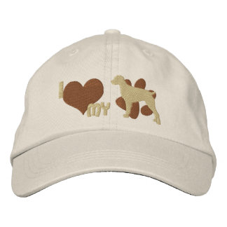 I Love my Brittany Spaniel Embroidered Hat Brown