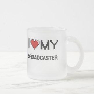 I love my Broadcaster 10 Oz Frosted Glass Coffee Mug